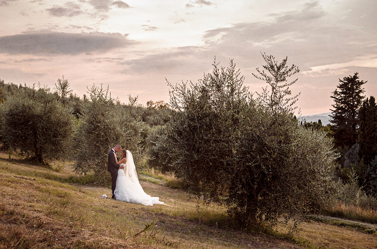 fotografia di matrimonio nei paesaggi della toscana