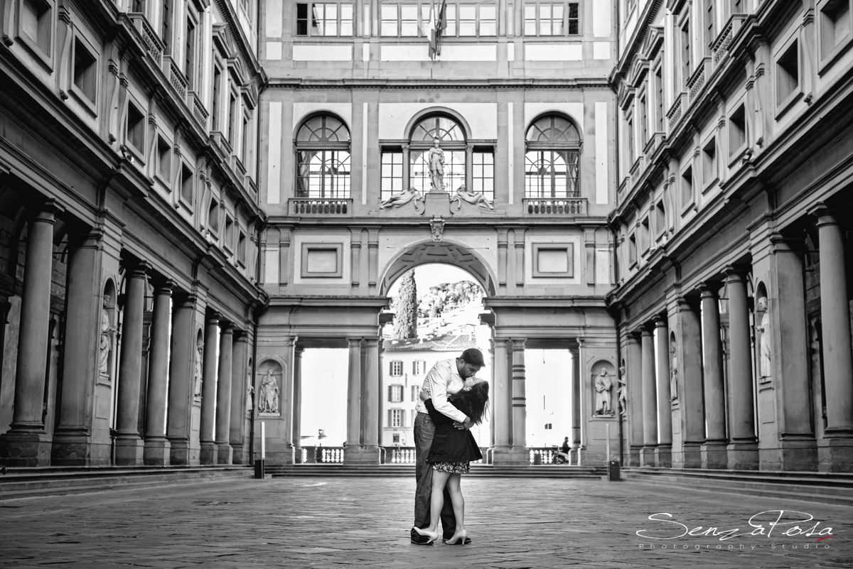 la galleria degli Uffizi ed il corridoio Vasariano