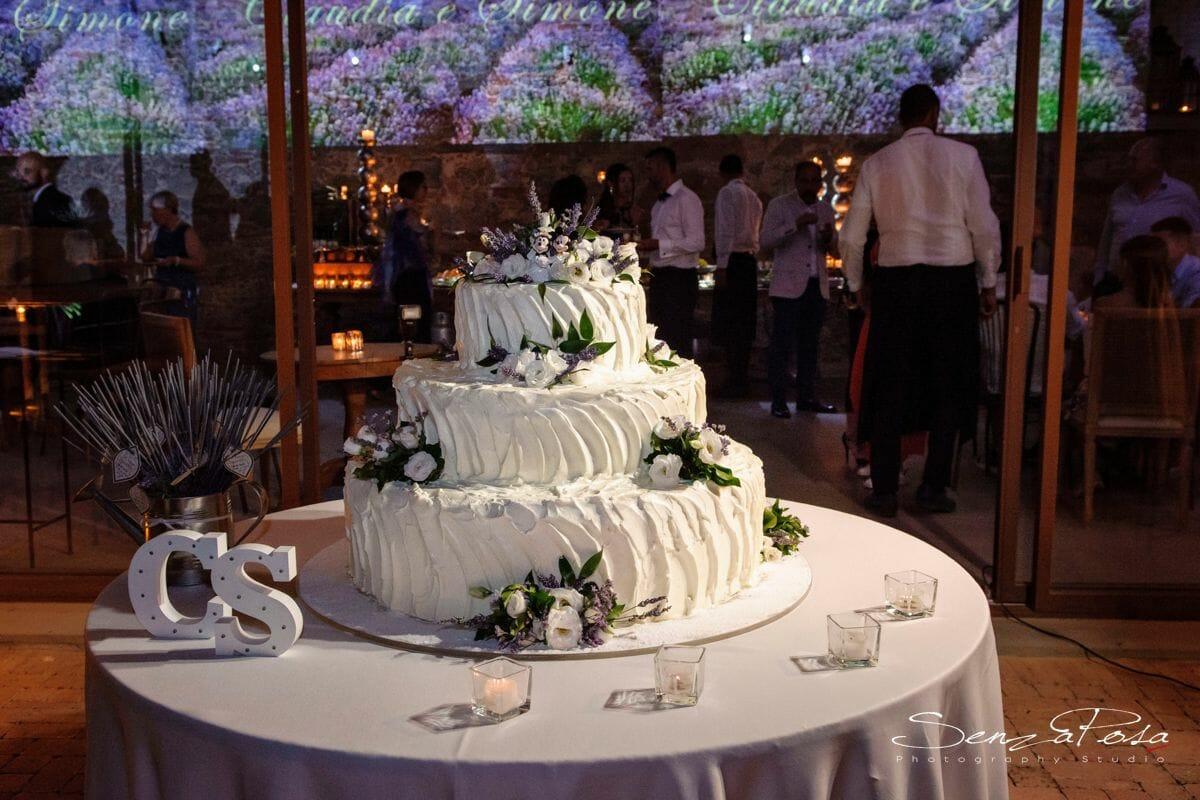 matrimonio impruneta torta nuziale